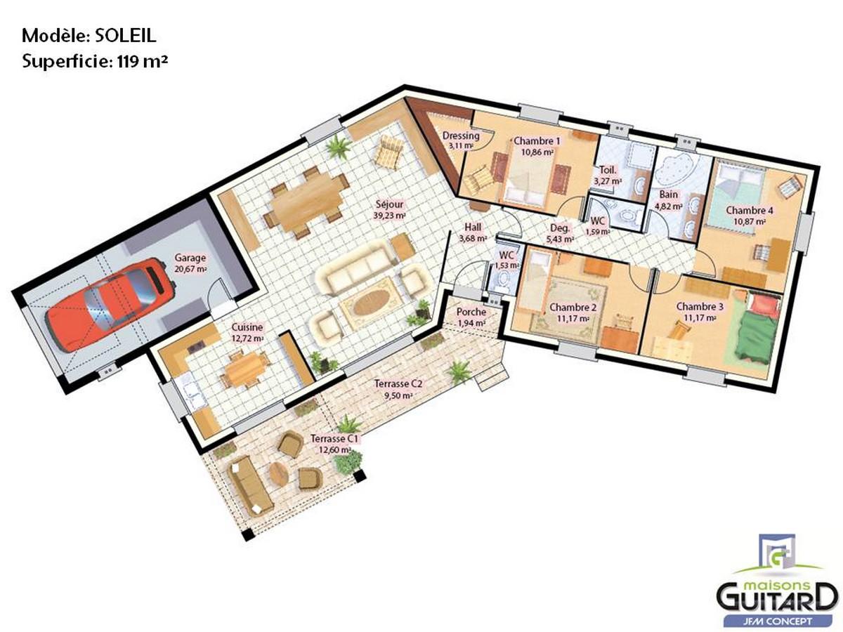 Plan De Maison En L 8 Exemples Pour Vous Inspirer 0